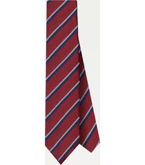 tommy hilfiger men's silk stripe tie red/navy/white -