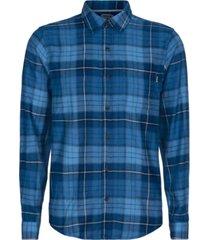 hurley men's portland classic-fit plaid flannel shirt
