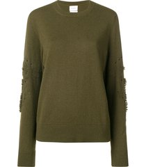 barrie thistle embroidered sweater - green