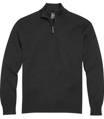 jos. a. bank traveler men's black modern fit 1/4 zip pima cotton sweater - size: small