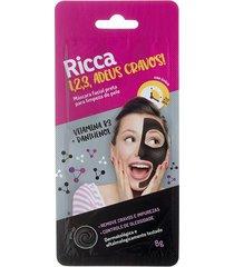máscara facial ricca preta para limpeza de pele