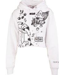 gcds graphic-print hoodie