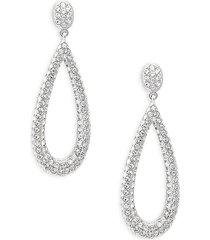 adriana orsini women's crystal teardrop earrings