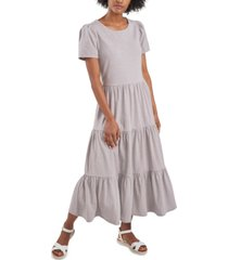 riley & rae lacey tiered puff-sleeve dress, created for macy's