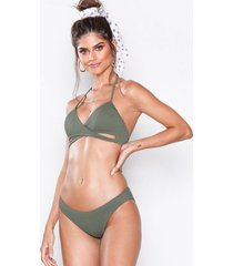 new look ribbed bikini bottom trosa khaki