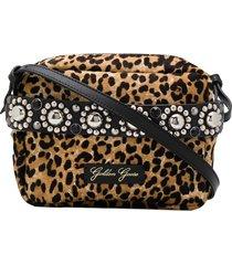 golden goose snow leopard print crossbody bag - neutrals