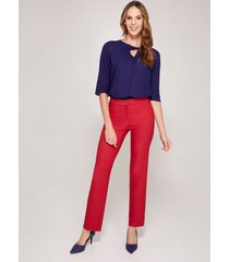 pantalón recto formal rojo 6