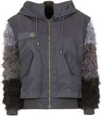 mr & mrs italy audrey tritto capsule jacket with feathers