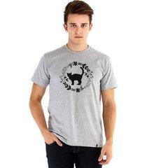 camiseta ouroboros gatinho negro masculina - masculino