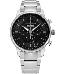 alexander watch a101b-02, stainless steel case on stainless steel bracelet