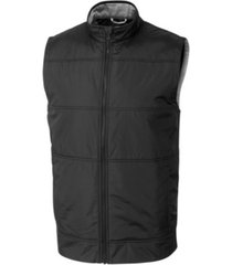 cutter & buck men's big & tall stealth full zip vest