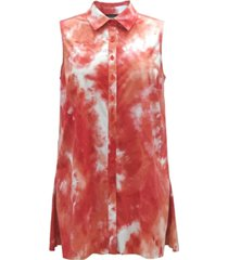 alfani tie-dye sleeveless blouse, created for macy's