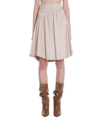 drome skirt in beige leather