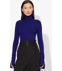 proenza schouler silk cashmere long sleeve knit turtleneck cobalt/blue xs