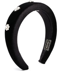 piccola ludo floral crystal headband - black