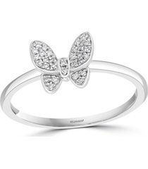 effy diamond butterfly promise ring (1/10 ct. t.w.) in sterling silver