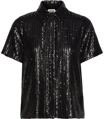 britta sequin dress blouses short-sleeved zwart twist & tango