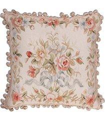 almofada aubusson flores 1 - 50 x 50
