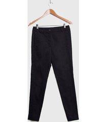 pantalón ash gabardina negro - calce ajustado