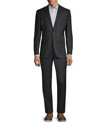 classic-fit birdseye plaid wool suit
