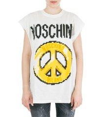 moschino peace pixel t-shirt