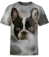 camiseta masculina buldogue frances md01 - cinza - masculino - poliã©ster - dafiti