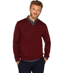 sweater cuello en v rojo esprit