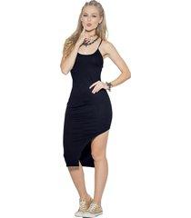 vestido largo negro atypical