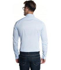 koszula bexley 2799 długi rękaw slim fit niebieski