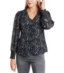 1.state trendy plus size animal-print blouse