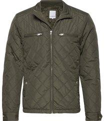 quilted jacket doorgestikte jas groen lindbergh