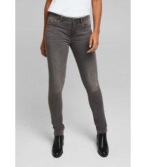 jeans mujer slim medium rise gris oscuro esprit