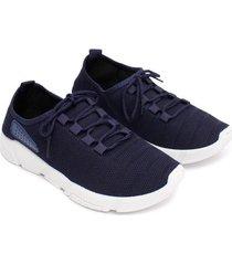 tenis con detalle azul color azul, talla 38
