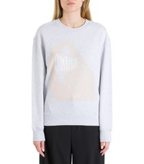 chloé sweatshirt with print on front
