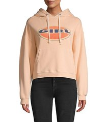 graphic cotton pullover hoodie