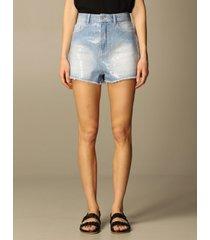 emporio armani short emporio armani denim shorts with sequins