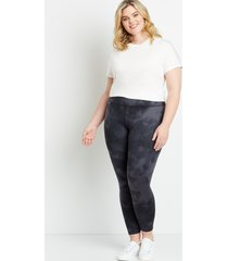 maurices plus size womens high rise tie dye full length luxe leggings