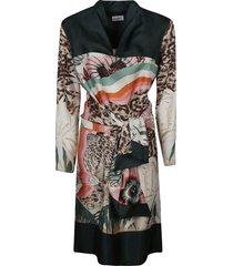tiger printed dress