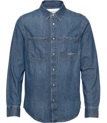 iconic shirt overhemd casual blauw calvin klein jeans