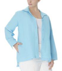 anne klein plus size collared jacket