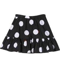 msgm black skirt with white polka dots