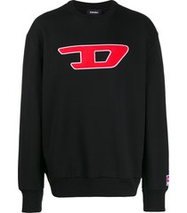 diesel denim division patch sweatshirt - black