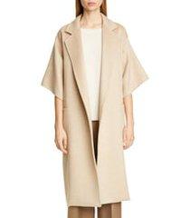 women's max mara ruta double face cashmere & camel hair wrap coat