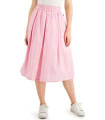 tommy hilfiger a-line striped skirt