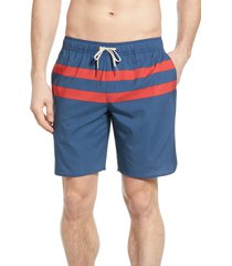 men's fair harbor the anchor stripe swim trunks, size x-large - blue