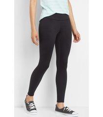 mid rise black 7/8 active legging