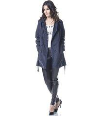 casaco gisele freitas sobretudo azul marinho