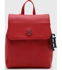 mochila int th charming backpack rojo tommy hilfiger