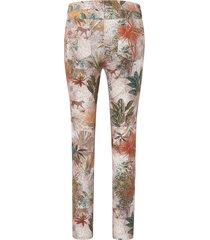 enkellange broek pasvorm barbara met jungleprint van peter hahn multicolour