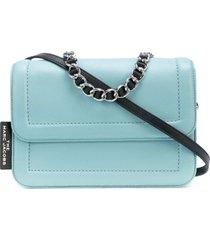 marc jacobs bolsa tiracolo cushion - azul